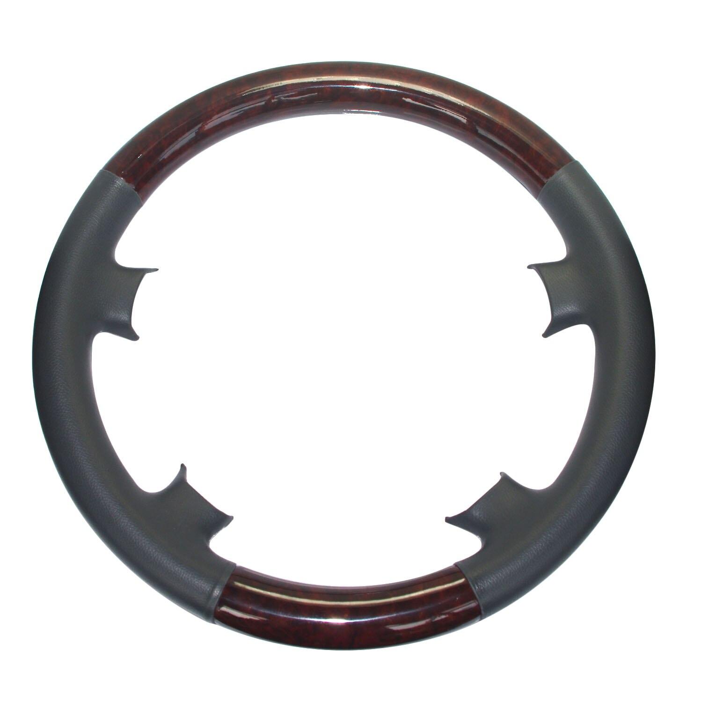 Black Leather Wood Steering Wheel Cover Benz 00-02 W210 S210 E E320 E430 E500 55