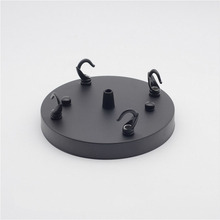 1PCS Black White 2 Color Ceiling disc straight edge, hook rings more chassis hook, ceiling plate home accessories Ceiling Rose(China)