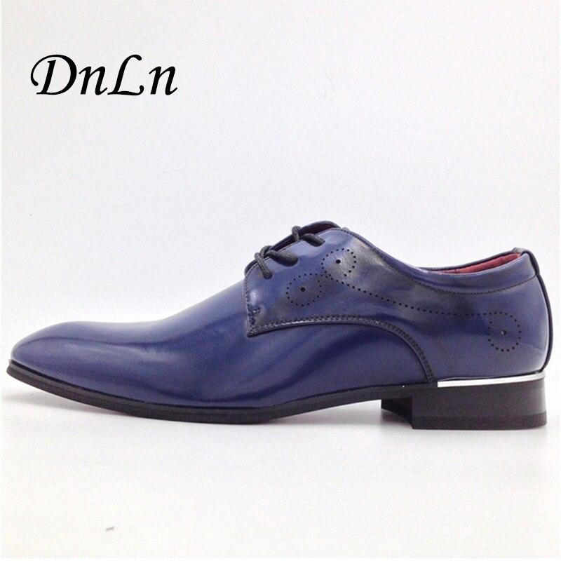 Patent Leather Men Wedding Shoes Brogue Party Shoes MenS Business Shoes Male Oxfords Lace-Up D30<br>
