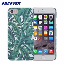 Fashione Banana Leaves Phone Case For iPhone 6 6S 7 7 Plus Tropical Green Leaves Printed Hard Plastic Matte Protective Cover