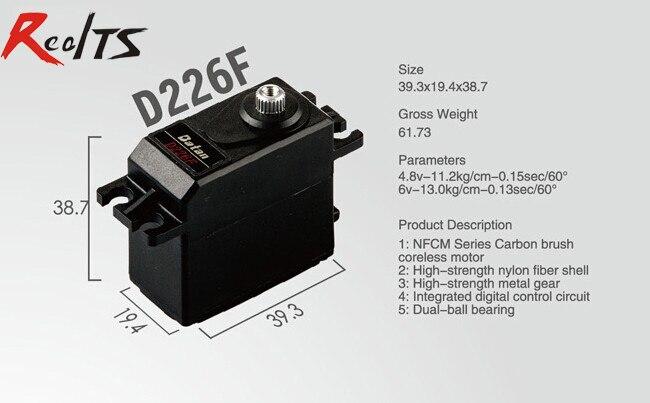 RealTS One piece Batan D226F 13kg dual ball bearing digital metal gear coreless servo for rc car rc boat rc airplane<br>