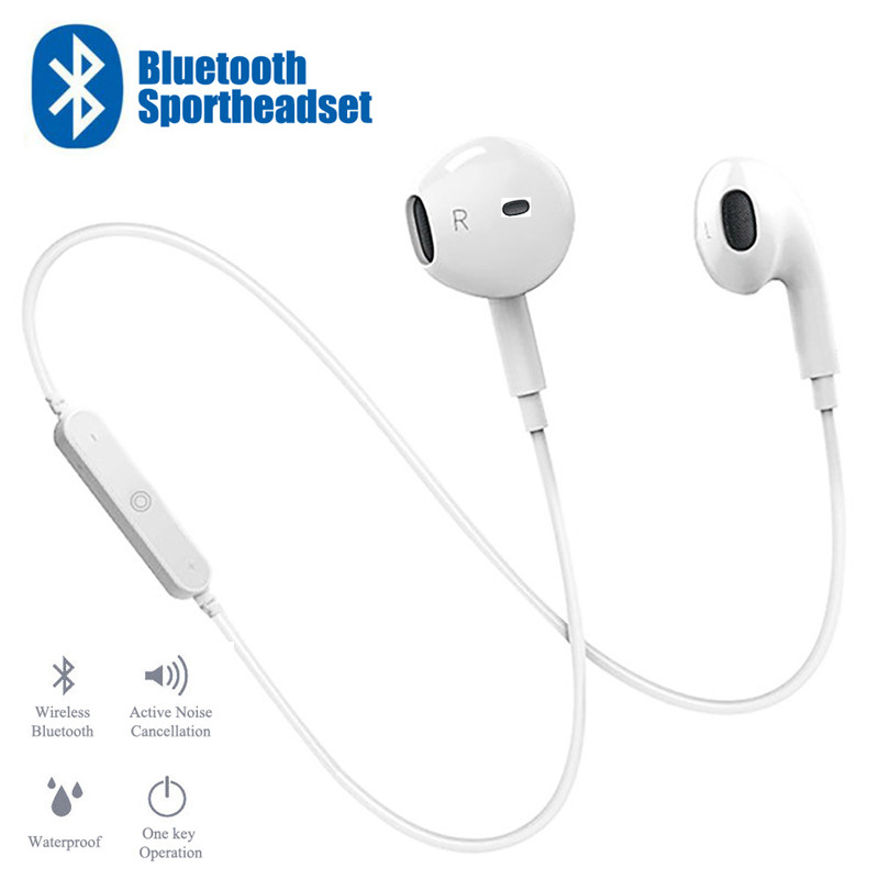Sport Neckband Wireless Earphone Music Earbuds Headset Handsfree Bluetooth Earphone with Mic For iPhone For Huawei For Xiaomi(China)