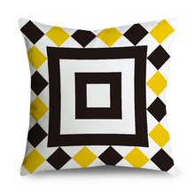 Geometry Pillowcase For Home Decoration Happy Gifts personalized pillowcase Bed Decorative Patterns(China)