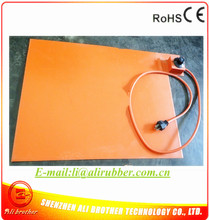 Silicone Heating Mat for Metal Plate 110v 1500w 560*815*1.5mm Flexible Silicone Rubber Heater 1000mm lead wire from 560mm side(China)