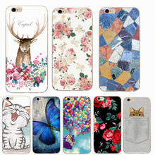 Soft TPU Case For iPhone 6 6S Case Cover For iPhone 7 8 Plus X 5S 5 SE Cat Balloon Fruit Flower Silicone Mobile Phone Cases Bags(China)