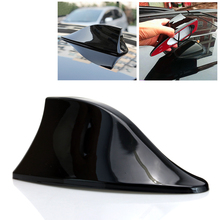 1x Black Auto Antenna Car Roof Mounted Signal Radio Decorative Trim Stick Shark Fin Shaped Style Antenna UV Protected #7543