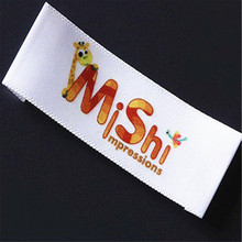 Customized 2000pcs satin labels with laser printing for fashion women clothing/skirts/underwear use(China)
