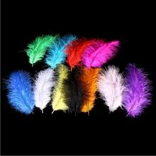 about 10-15cm DIY natural goose soft feathers Christmas decoration home accessories 100pcs/lot(China)