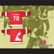 Goon Xavier LaFlamme 70 Canada Hockey Jersey White Red Men's Size M-XXXL Free shipping(China)