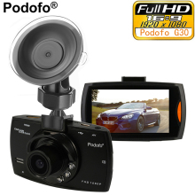 "Podofo Car Camera G30 Full HD 1080P 2.7"" Car Dvr Recorder + Motion Detection Night Vision G-Sensor 32GB Dvrs Dash Cam Black Box"