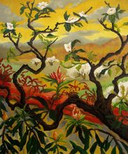 Decorative artwork Japanese Tree oil Painting Canvas art Landscape Paul Elie Ranson High quality hand painted