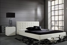 leisure contemporary modern leather bed King size bedroom furniture Made in China