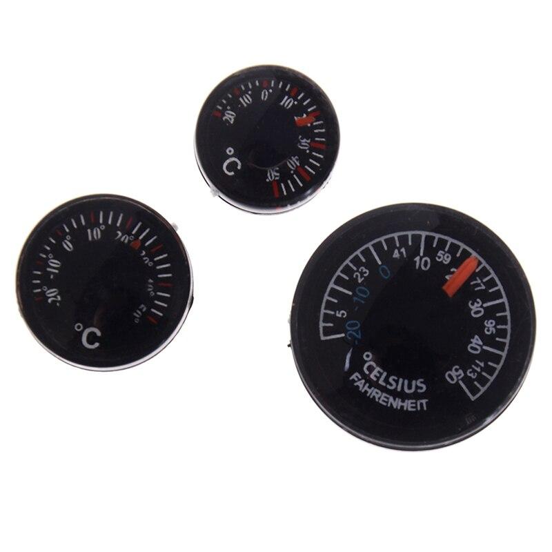 Diamètre en plastique 20 mm Thermomètre circulaire Thermographe Fahrenheit intérieur//extérieur