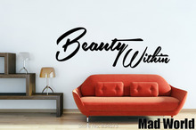 Mad World-Beauty Within Wall Art Stickers Wall Decal Home DIY Decoration Removable Room Decor Wall Stickers()