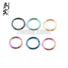 Titanium Anodized Hinged Segment Ring 1.6*10mm Body Jewelry