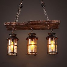New Original Design Retro Industrial Pendant Lamp 2/3 Heads Old Boat Wood American Country style Nostalgia Light Free Shipping(China)