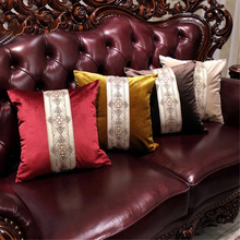 2017 Recommend Top Luxury Jacquard Embroidery Throw Pillowcases Imported Velvet Cushion Cover Sofa Home Decor fundas de cojines