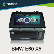 IOKONE Car Video DVD CD Stereo Player For BMW E60 X5 With FM/AM,Bluetooth,GPS,iPod,Steering Wheel Control FREE SD map card