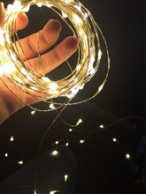 2017 New Year RGB LED String Copper wire 3AA Batteries 33FT 10M 100 leds String Lights Mini holiday lighting(China)