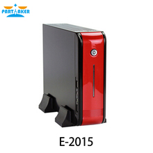"htpc case E-MINI E-2015 MINI-ITX chassis with External SATA and CD-ROM 1*2.5"" HDD 2*USB and Audio Ports"