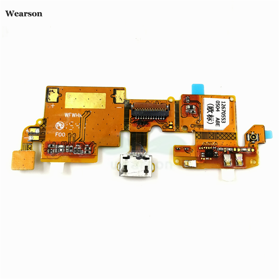 For ZTE Blade V6  Blade X7  Blade D6 USB Port Charge Board Flex Cable With Microphone Tested High Quality (2)