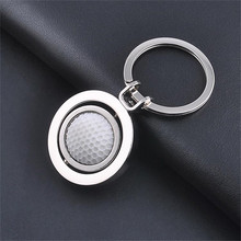 360 Degree Rotation Football Basketball Golf Plating Silver KeyRing Jewelry Sports Memorabilia Collectors keychain Chaveiro ND55(China)