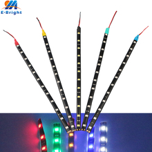 10Pcs/lot 30cm 5050 12 SMD LED Flexible Strip Light Decorative Lamp Tape DC 12V Waterproof IP65 White Blue Red Yellow Green(China)