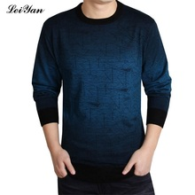 Brand Cashmere knitted Sweater Men christmas knitwear Wool Pull O-Neck pullover sweaters for 2017 Casual winter male polo sweter(China)