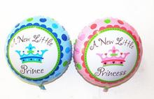 18 inch round colorful Princes or princesses foil mylar helium Balloons for Birthday Party Decoration newborn baby