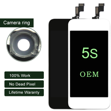No Dead Pixel pantalla ecran OEM for IPhone 5s LCD Display Mix Model Touch Screen Digitizer Assembly Replacement parts
