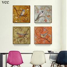 4 Piece Bird,Paintings On The Wall Art Canvas Painting Picture Cuadros Decoracion,Wall Pictures For Living Room,Home Decor