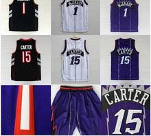 Vintage New Toronto Vince Carter Tracy McGrady basketball jersey New Material Rev 30 retro shorts Embroidery throwback jerseys