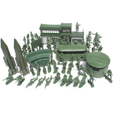 World War II 56pcs/set soldier boy sand table model toy Full 5cm soldier Military Bases Set nostalgic toys(China)