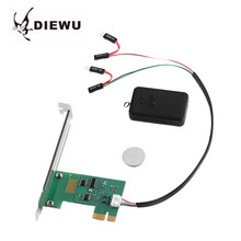 DIEWU PCI-E Desktop PC Remote Controller 20m Wireless Restart Switch Turn On/OFF For Family Desktop Computer