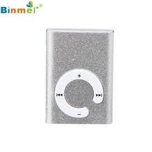 Gift 100% Brand New Fashion Mini Clip Metal USB MP3 Player Support Micro SD TF Card Music Media Wholesale price_KXL0529(China)