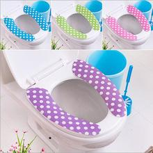 37*8cm Bathroom Chemical Fiber Fabric Toilet Seat Cover Mat Warmer Pad Acrylic Fibres Toilet Mat.(China)