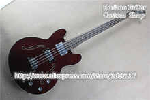 New Arrival Electric Bass Guitar 4 Strings Archtop Body Semi-hollow Jazz Eletrica Guitarra Chinese Fac tory In Stock