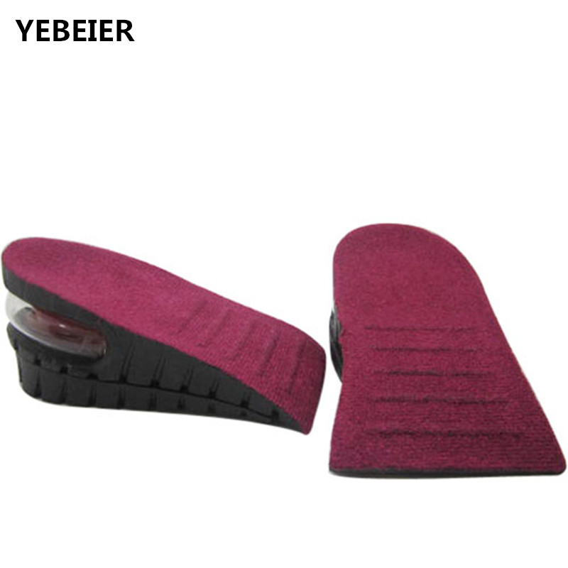 MEN and WOMEN  invisible air cushion heel pads rubber comfort height increase shoe inserts 2 layer<br><br>Aliexpress