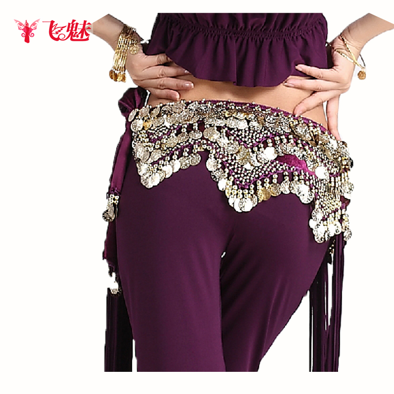 Flying Charm New Belly Dance Belt Towel Gold Waist Chain Training Triangle