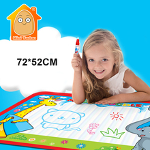 MiniTudou 72x52cm Kids Water Drawing Painting Writing Toys Doodle Aquadoodle Mat Magic Pens Children Water Drawing Board Pen(China)