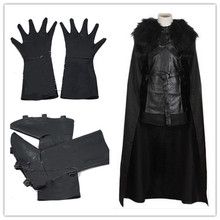 2017 High Quality GoT Game of Thrones Jon Snow Night's Watch Outfit Full Set Halloween Party Cosplay Costume for Adult Men Women