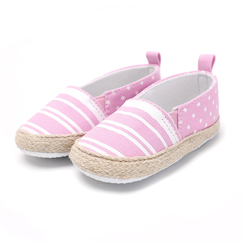 Baby Girl Shoes Toddler Infant Baby Girl Dot Striped Crib Shoes Soft Sole Anti-slip Single Shoes Baby First Walker Shoes M30#F (17)