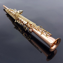 HOT Authentic SelmerSoprano one tube 54 type B flat phosphor bronze gold key saxophone instrument maker DHL / EMS free shipping(China)