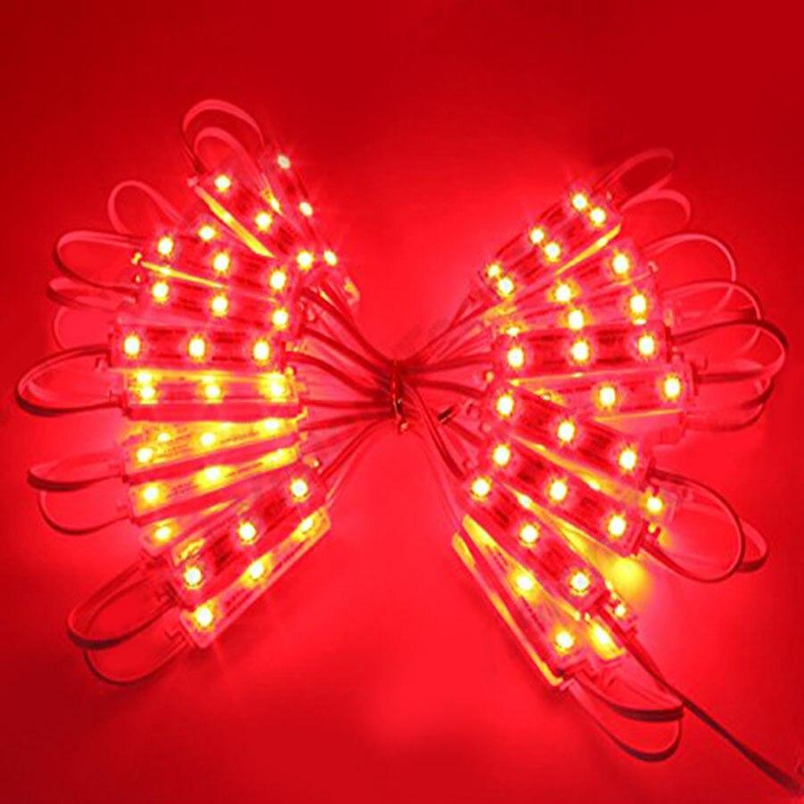 20PCS 3LEDs SMD 5050 LED Modules Light DC12V Waterproof Lamp Backlight for Billboard Advertising Light Warm White Red Green Blue (33)