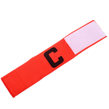 New Promotional Football Soccer Sports Flexible Adjustable Player Bands Fluorescent Captain Armband(China)