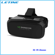 VR Shinecon Virtual Reality Headset 3D vr Glasses Google Cardboard DVD Movies For iphone Samsung 4.0-6.0' Smartphone vr device