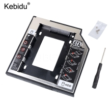 kebidu SATA to SATA 2nd HDD Caddy 9.5mm for 9mm 9.5mm SSD Case Hard Disk Drive Enclosure Bay for Notebook ODD Optibay CD-Rom(China)