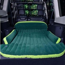 SUV Car Inflatable Mattress - Seat Travel Bed Air Mattress With Air Pump Outdoor Camping Moisture-proof Pad(China)