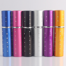 Hot 6 color beautiful glass and aluminum 10ml binary stars can be filled travel portable perfume atomizer spray bottle