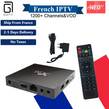 X96 Android 6.0 IPTV Box Amlogic S905X 2GB16GB with NEO IPTV Subscription France Arabic Europe Smart TV Box Wireless Keyboard(China)